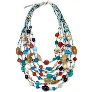 Handmade Nickel Silver Turquoise Dreams Necklace (India)