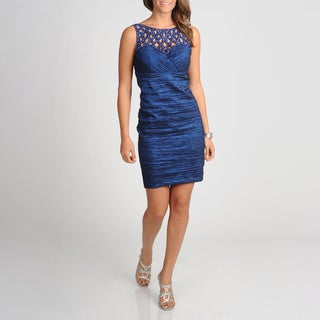 Ignite Evenings Women's Ruched Evening Dress