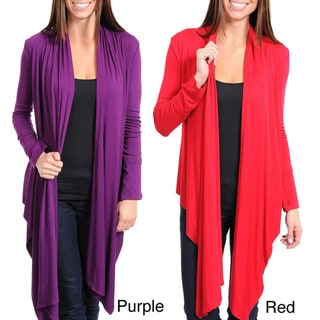 Stanzino Women's Long Front Cardigan