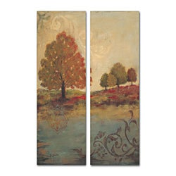 Fall Foliage Diptych Art (17 x 18)
