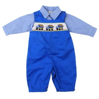Petit Ami Newborn Boy's 2-piece Overall Set FINAL SALE