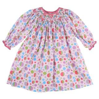 Petit Ami Toddler Girl's Pink Smock-collared Dress FINAL SALE