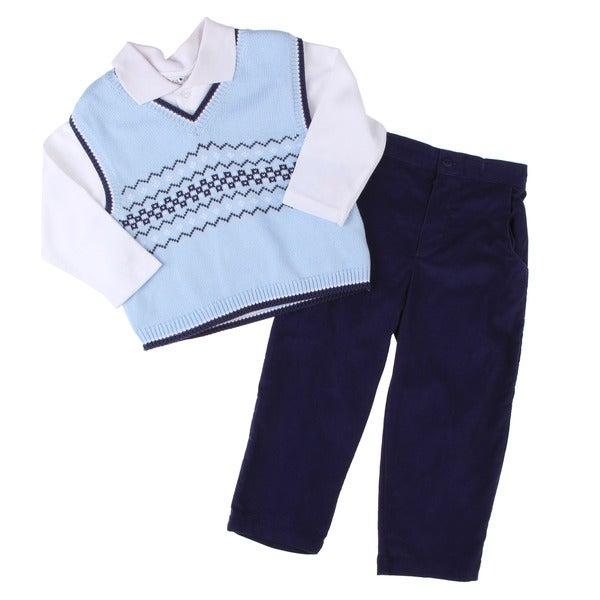 Petit Ami Toddler Boy's 3-piece Pant Set FINAL SALE