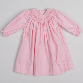 Petit Ami Toddler Girl's Pink Smocked Collar Dress FINAL SALE