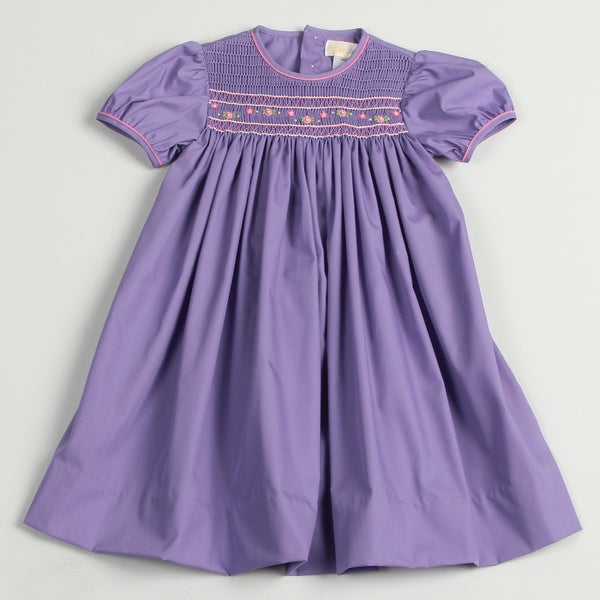 Petit Ami Toddler Girls' Smocked Collar Dress FINAL SALE