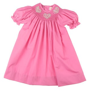 Petit Ami Infant Girl's Smocked Collar Dress
