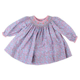 Petit Ami Newborn Girl's Pink Dress Top and Pants