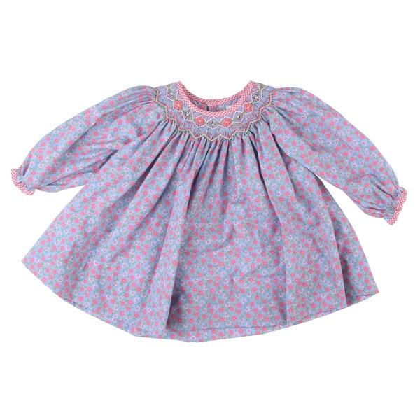 Petit Ami Newborn Girl's Pink Dress Top and Pants