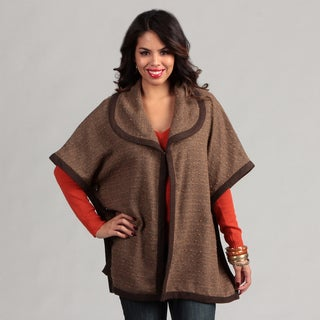 Live A Little Brown Women's Bound-Edge Cape
