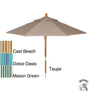 PHAT TOMMY 9 Foot Sunbrella Fabric Market Patio Umbrella