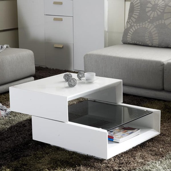 Mona High-Gloss Expandable Coffee Table