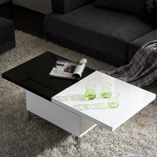 Sheela High-Gloss Extendable Coffee Table