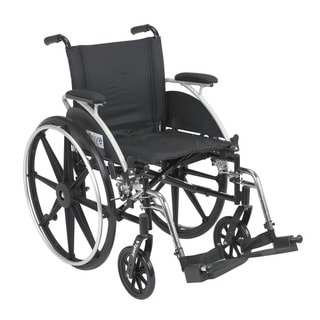 Viper Wide Wheelchair with Flip Back Desk Arms and Front Riggings