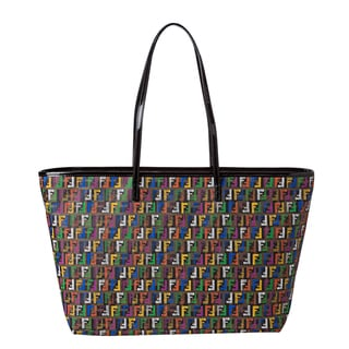 Fendi Multi-colored Zucchino Print Roll Tote Bag