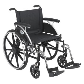 Drive Medical L420DFA-SF Viper Black Flip Back Desk Arm Wheelchair