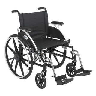 Drive Medical L420DDA-SF Viper Black Flip Back Desk Arm Wheelchair