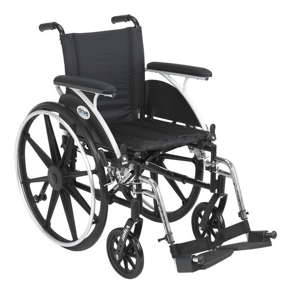 Viper Lightweight Wheelchair with Various Flip Back Desk Arm Styles and Front Rigging Options