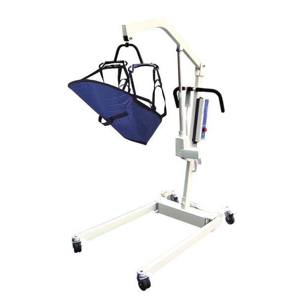 Bariatric Electric Patient Lift with Rechargeable Battery and 6-Point Cradle