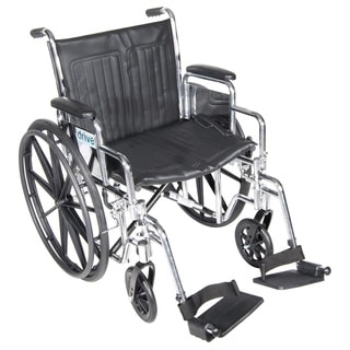 Drive Medical Chrome Sport 16-inch Wheelchair with Front Rigging Options