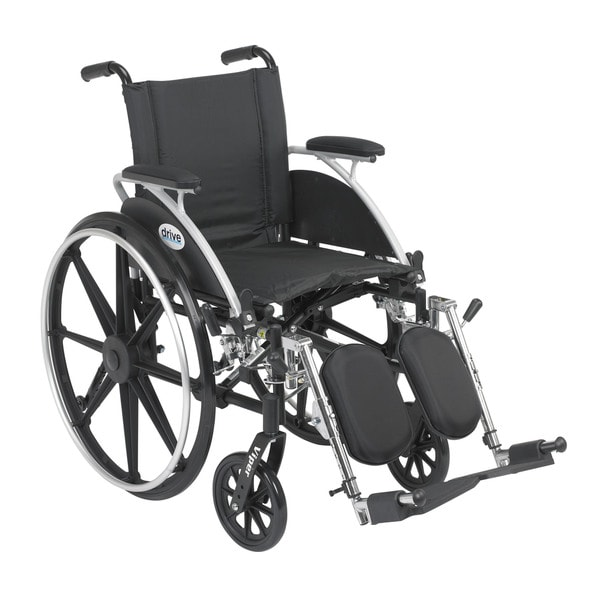 Drive Medical Viper Wheelchair with Flip-back Desk Arms and Front Rigging Options