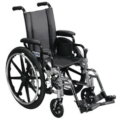 Drive Medical Viper Wheelchair with Various Flip Back Desk Arm Styles and Front Rigging Options