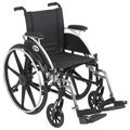 Viper Wheelchair with Flip Back Removable Desk Arms, Swing-away Footrests and 12-inch Seat