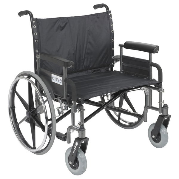 Sentra Reinforced Heavy Duty Wheelchair with Extra-Large Armrests