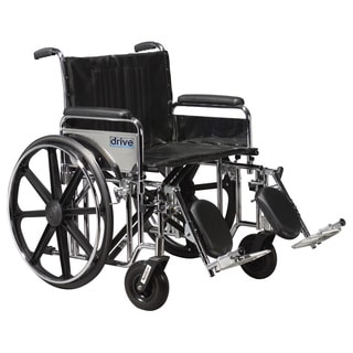 Drive Medical Sentra Extra Heavy Duty Wheelchair with Front Rigging Options
