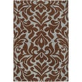 Candice Olson Hand-woven Fruitvale Brown Wool Rug (2' x 3')