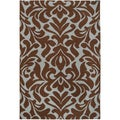 Candice Olson Hand-woven Fruitvale Brown Wool Rug (2&#39; x 3&#39;)
