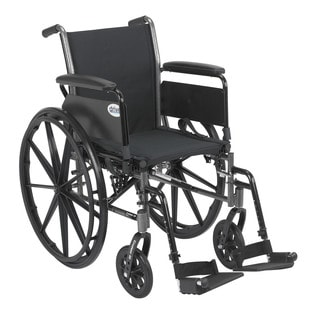 Drive Medical Cruiser III Black Lightweight Wheelchair