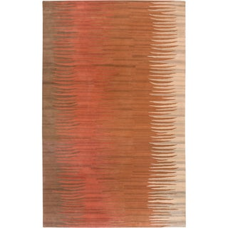 B. Smith Hand-tufted Encino Brown Wool Rug (2' x 3')