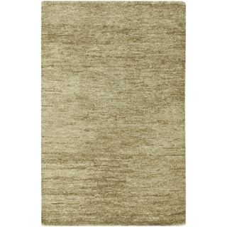 Hand-woven Ennis Green Natural Fiber Hemp Rug
