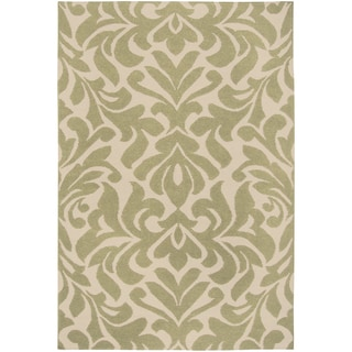 Candice Olson Hand-woven Frost Green Wool Rug (2' x 3')