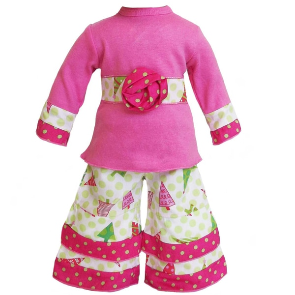 AnnLoren 2-piece Christmas Tree Doll Outfit