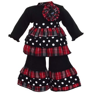 AnnLoren 2-piece Plaid/ Dot Doll Outfit
