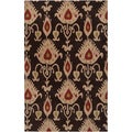 Hand-tufted Goleta Black Wool Rug (2' x 3')