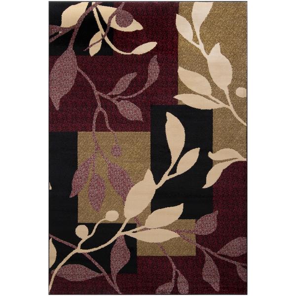 Majestic Burgundy Floral Rug (2'2 x 3'3)