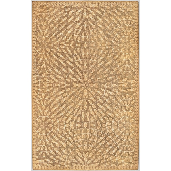 Hand-tufted Naas Green Wool Rug (2' x 3')