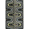 Tepper Jackson Hand-tufted Dreamscape Grey Wool Rug (2' x 3')