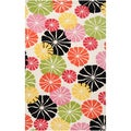 Tepper Jackson Hand-Tufted Dreamscape Abstract Multi Floral Wool Rug (2' x 3')
