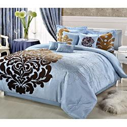 Lakhani 8-piece Blue Comforter Set