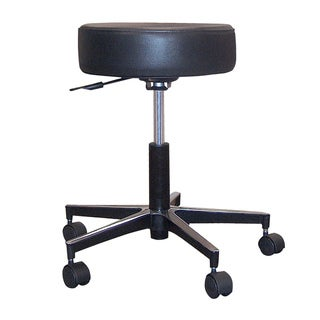 Drive Medical Padded Seat Revolving Pneumatic Adjustable Height Stool with Metal Base