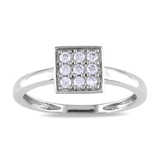 Haylee Jewels 10k White Gold 1/5ct TDW Diamond Ring (H-I, I2-I3)