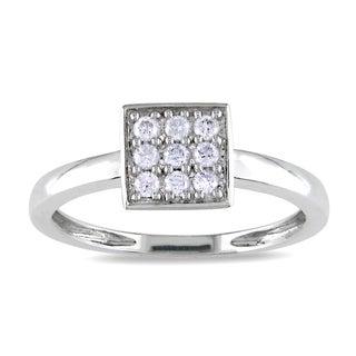 M by Miadora 10k White Gold 1/5ct TDW Diamond Ring (H-I, I2-I3)