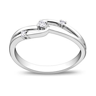 Miadora 14k White Gold Diamond Promise Ring (G-H, I1-I2)