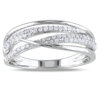 Miadora 14k White Gold 1/3ct TDW Diamond Ring (H-I, I2-I3)