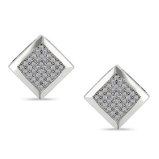 Miadora 10k White Gold 1/5ct TDW Diamond Earrings (G-H, I1-I2)