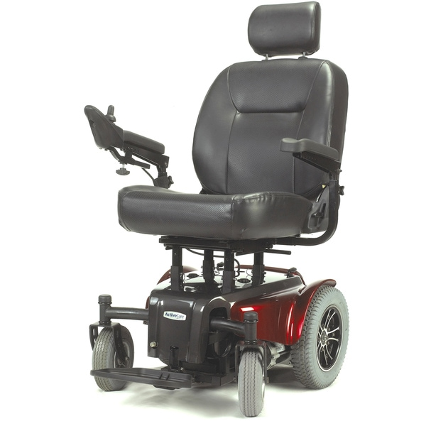 Medalist Heavy Duty Red Power Wheelchair