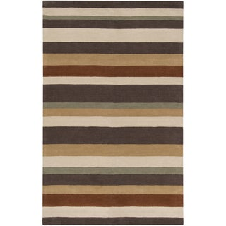 Hand-tufted Casual Multi Striped Hewitt Wool Rug (2' x 3')
